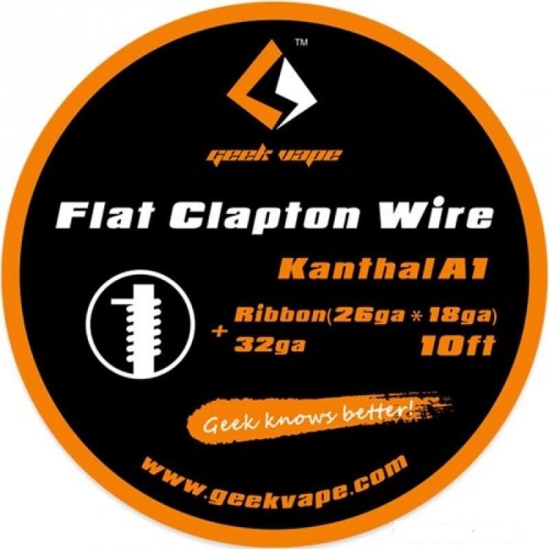 Fio Kanthal A1 Flat Clapton Ribbon (26gaX18ga) + 32ga Geek Vape