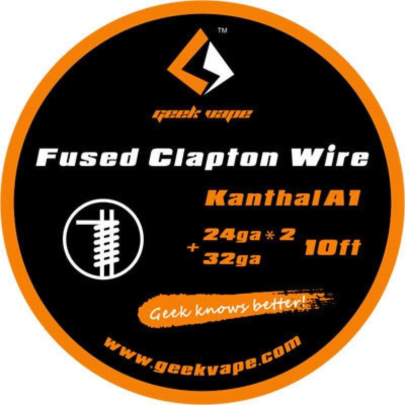 Fio Kanthal A1 Fused Clapton 24gaX2 + 32ga Geek Vape