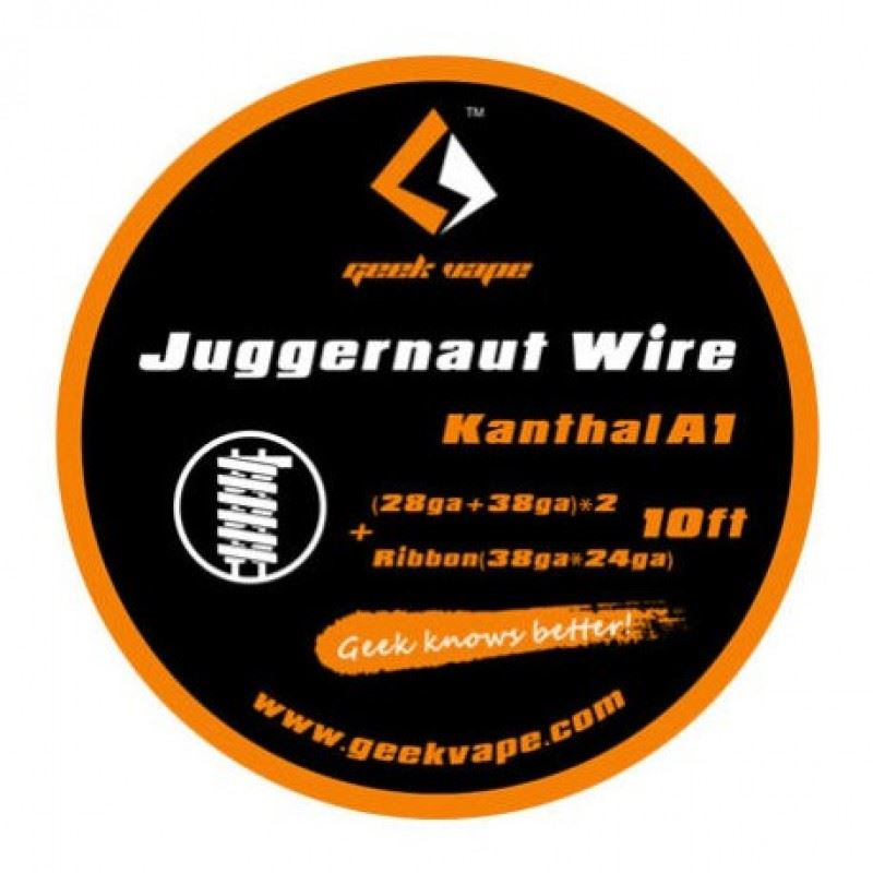 Fio Kanthal A1 Juggernaut (28ga + 38ga)X2 + Ribbon(38gaX24ga) Geek Vape
