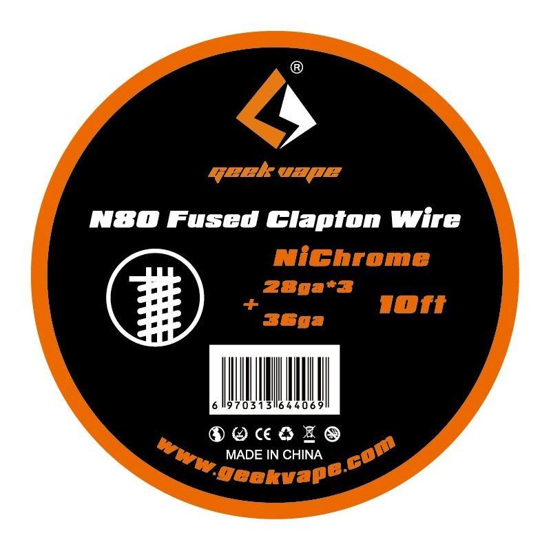 Fio N80 Fused Clapton 28gaX3 + 36ga Geek Vape