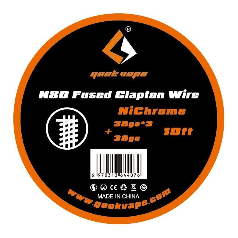 Fio N80 Fused Clapton 30gaX3 + 38ga Geek Vape