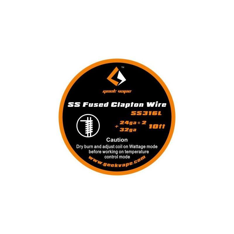 Fio SS Fused Clapton (24gaX2 + 32ga) Geek Vape