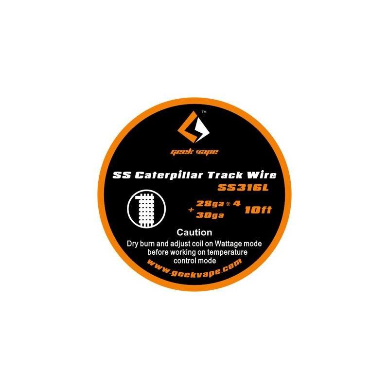 Fio SS Caterpillar Track 28gaX4 + 30ga Geek Vape