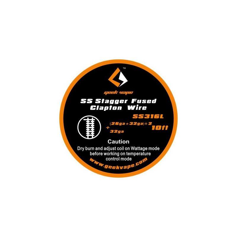Fio SS Stagger Fused Clapton (26ga + 32ga)X2 + 32ga Geek Vape