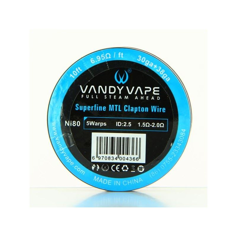 Fio Superfine MTL Clapton NI 80 30ga + 38ga Vandy Vape