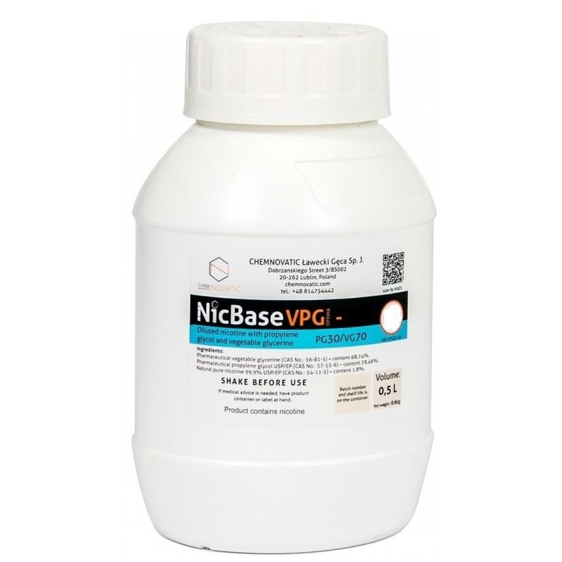 Base Chemnovatic VPG-0 70VG/30PG 500ml