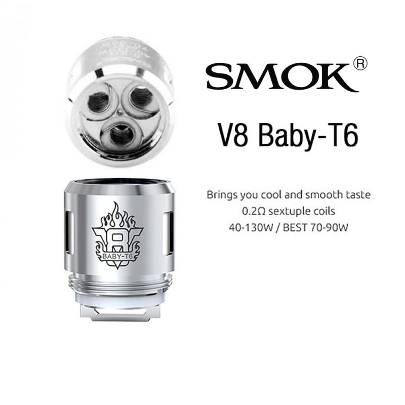 Resistência Smok T6 0.2 Ohms TFV8 Baby / Big Baby / Prince Baby