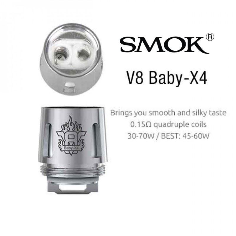 Resistência Smok X4 0.15 Ohms TFV8 Baby / Big Baby / Prince Baby